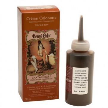 Crème Colorante au Henné Châtain Doré 90ml
