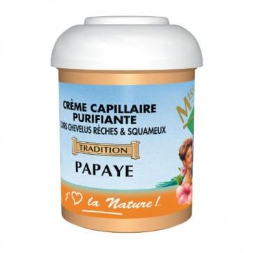Crème Capillaire Purifiante Cuirs Chevelus Rèches & Squameux à la Papaye 125ml