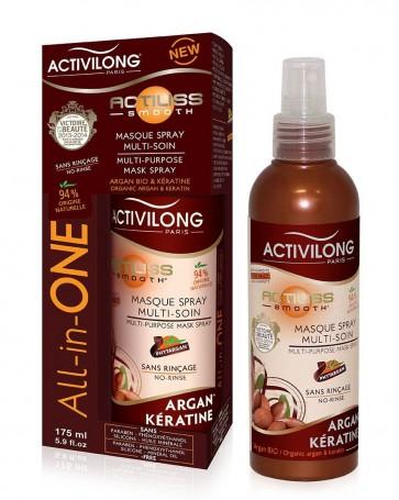 Actiliss Masque Spray Multi-Soin All-in-One Argan Bio et Kératine 175 ml