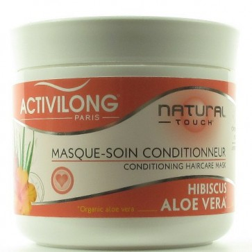 Masque-Soin Conditionneur à l'Hibiscus et à l'Aloe Vera Bio 200ml
