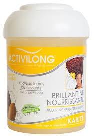 Brillantine Nourrissante Cheveux Ternes ou Cassants au Karité 125ml