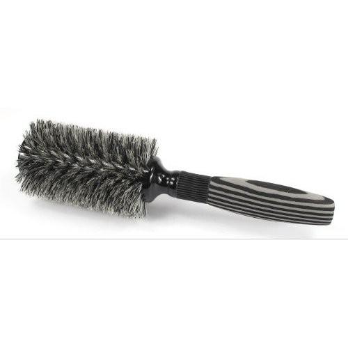 brosse brushing bois et poils de sanglier noir et blanc. Black Bedroom Furniture Sets. Home Design Ideas