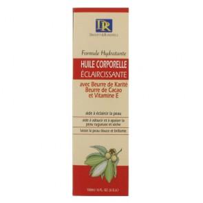 Huile Corporelle Eclaircissante au Beurre de Karité Beurre de Cacao et Vitamine E 180ml