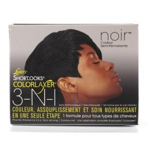 Kit Couleur Assouplissement et Soin Nourrissant 3-en-1 Couleur Noir Semi-Permanente
