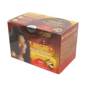 Kit Défrisant Super sans Soude à l'Huile d'Argan Bio pour Cheveux Super Frisés