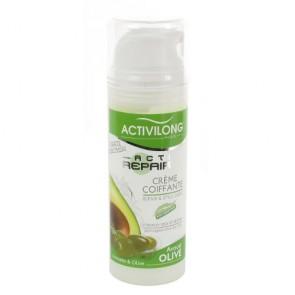 Crème Coiffante à l'Huile d'Avocat et d'Olive pour Cheveux Secs et Abîmés 125ml