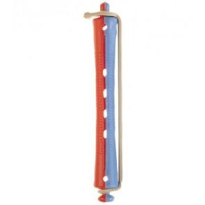 Bigoudi à permanente long bleu rouge diamètre 11mm