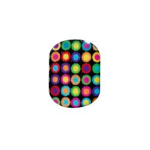 Décors Adhésifs pour Ongles en Gel 3D Ronds Multicolores x16