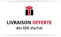 Livraison offerte dès 60€ d'achat